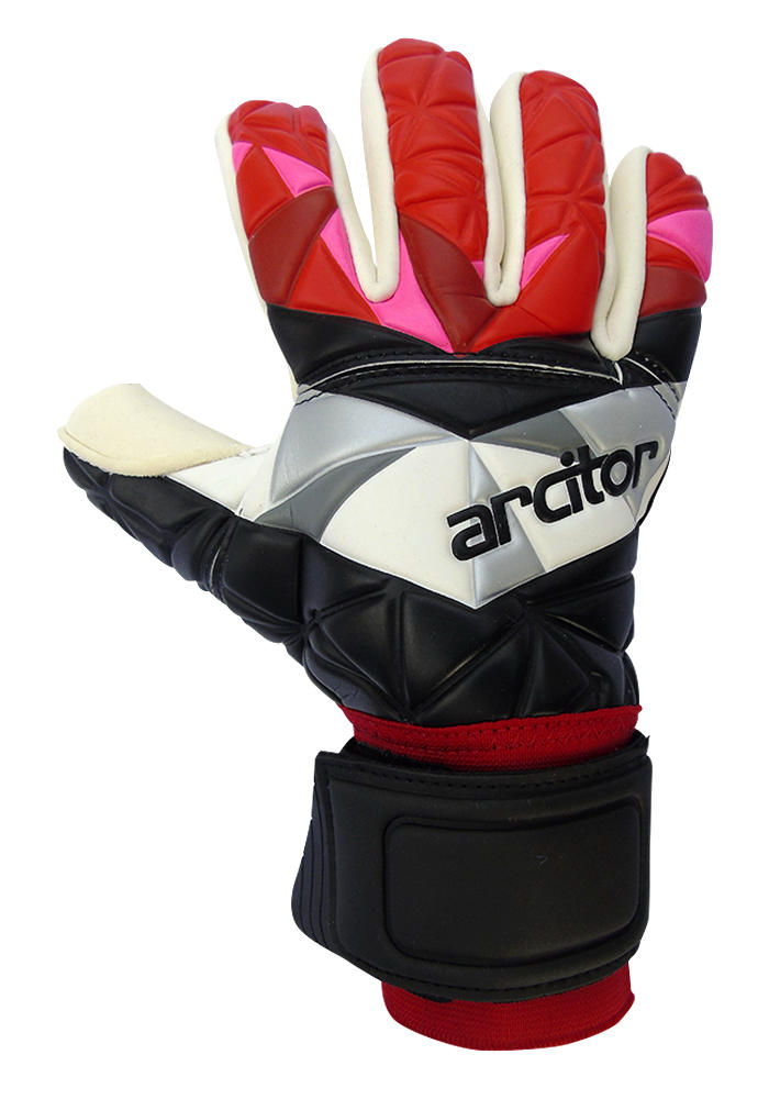 Black and red gk gloves