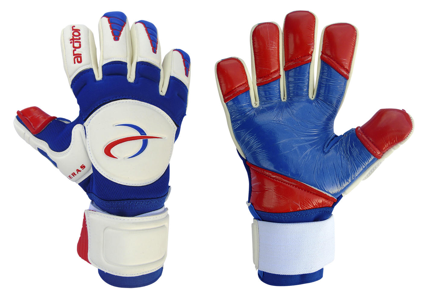 Keras Blue Red Goalie Glove