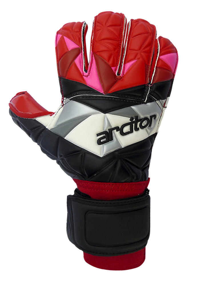 red goalkeeper gloves