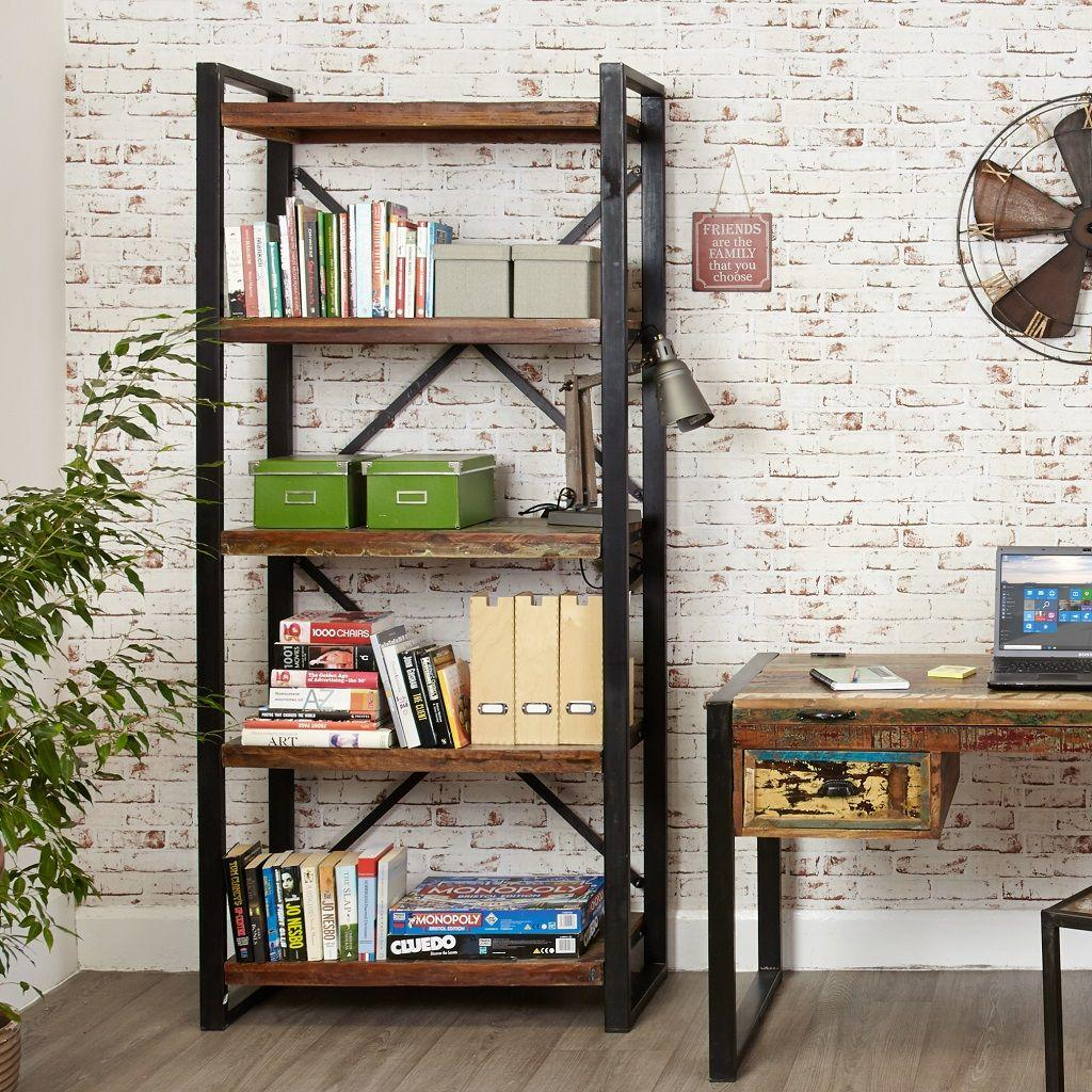 Easy Living Footwear Junction Fair Home: Industrial Chic Large Open Bookcase