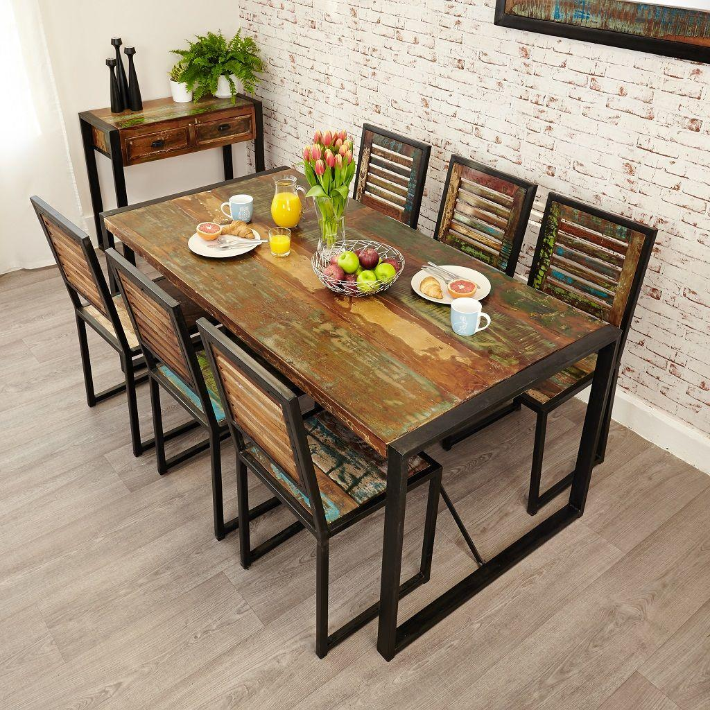 Industrial Chic Large Dining Table