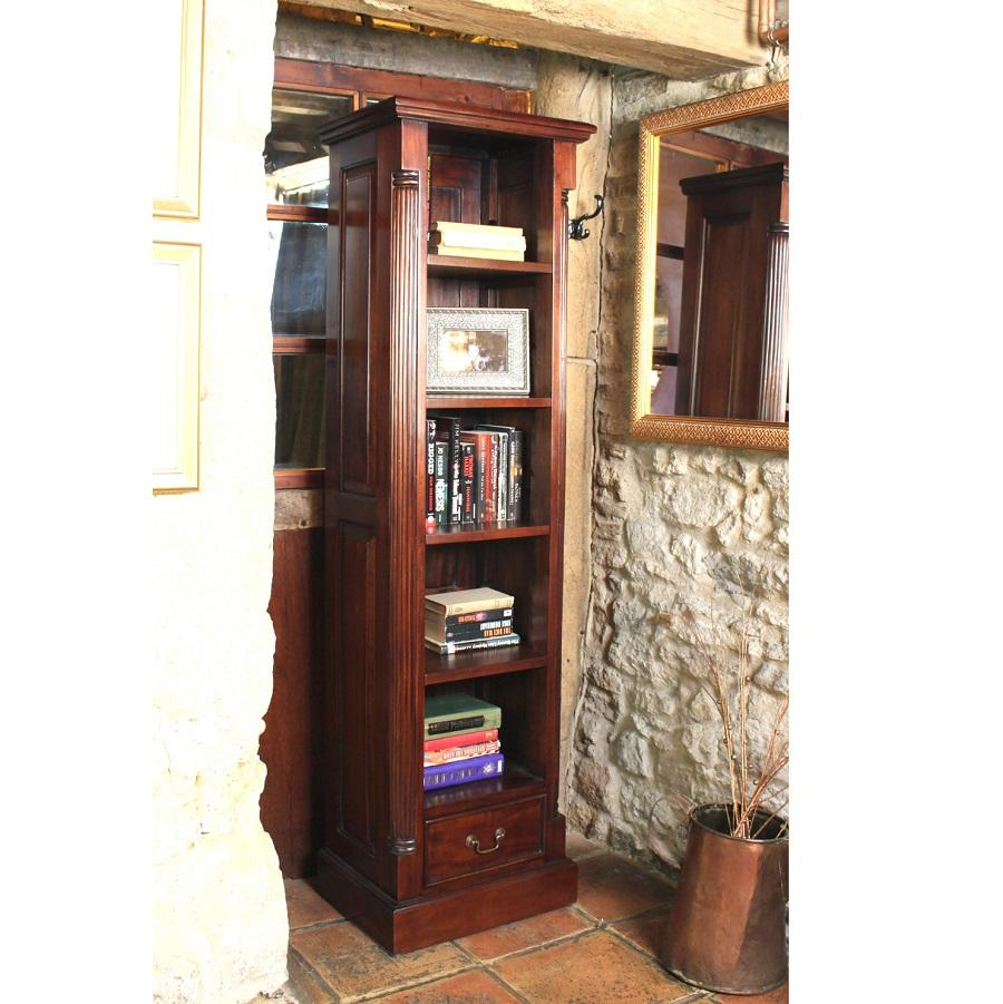 Elegant Mahogany Tall Narrow Bookcase