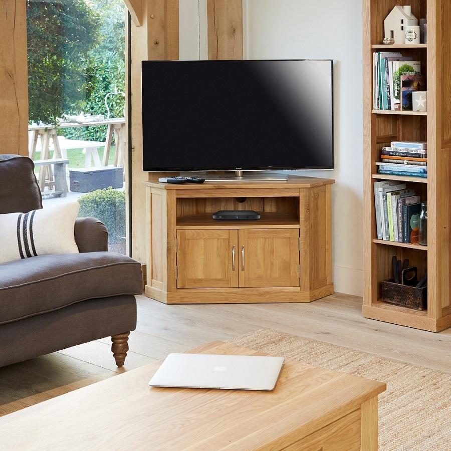 Classic Oak Corner Television Cabinet