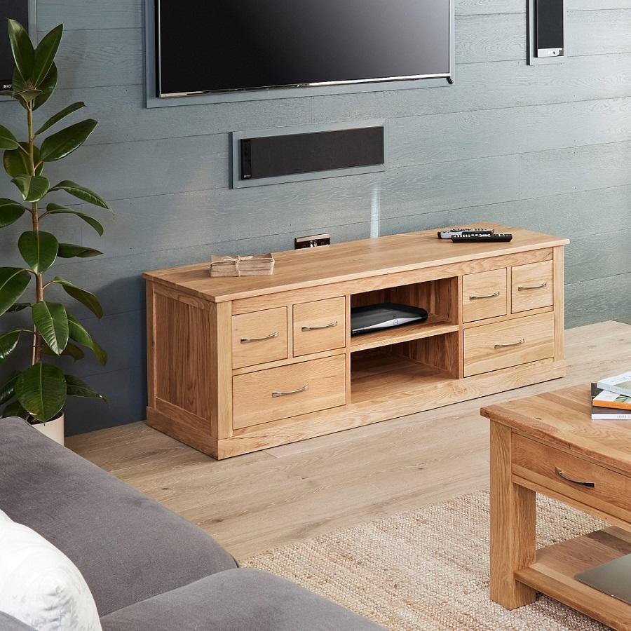 Classic Oak Widescreen Television Cabinet