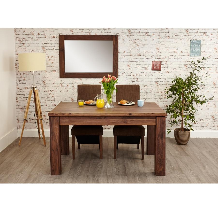 Modern Walnut Extending Dining Table