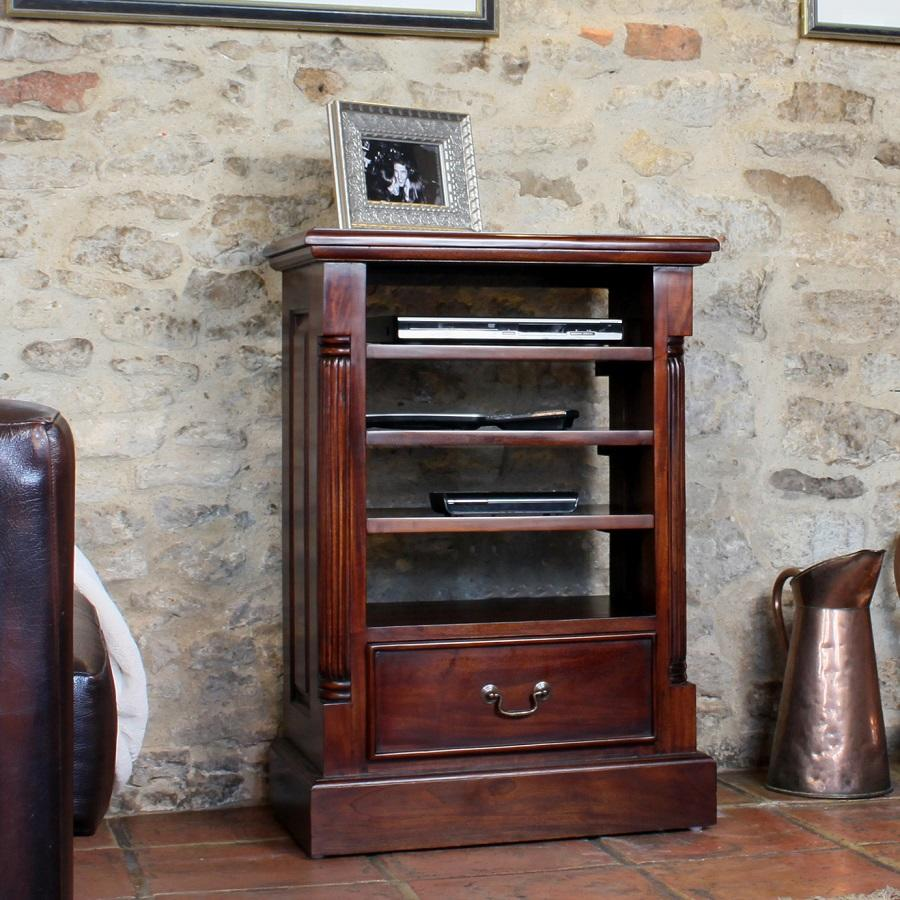 Elegant Mahogany Entertainment Cabinet