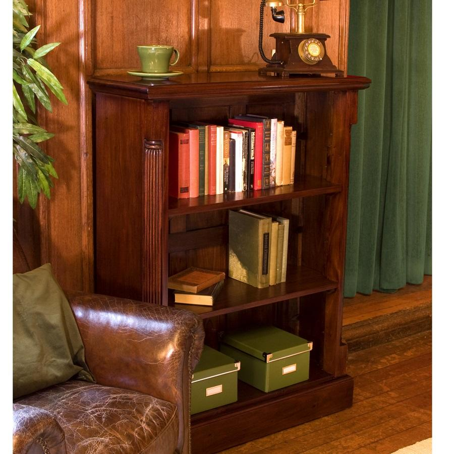 Elegant Mahogany Low Open Bookcase
