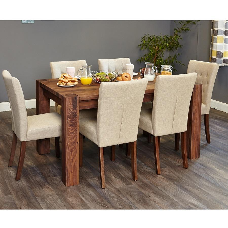 Shiro Walnut Dark Wood Modern Furniture Large Dining Table: Walnut Medium Dining Table For 4 To 6