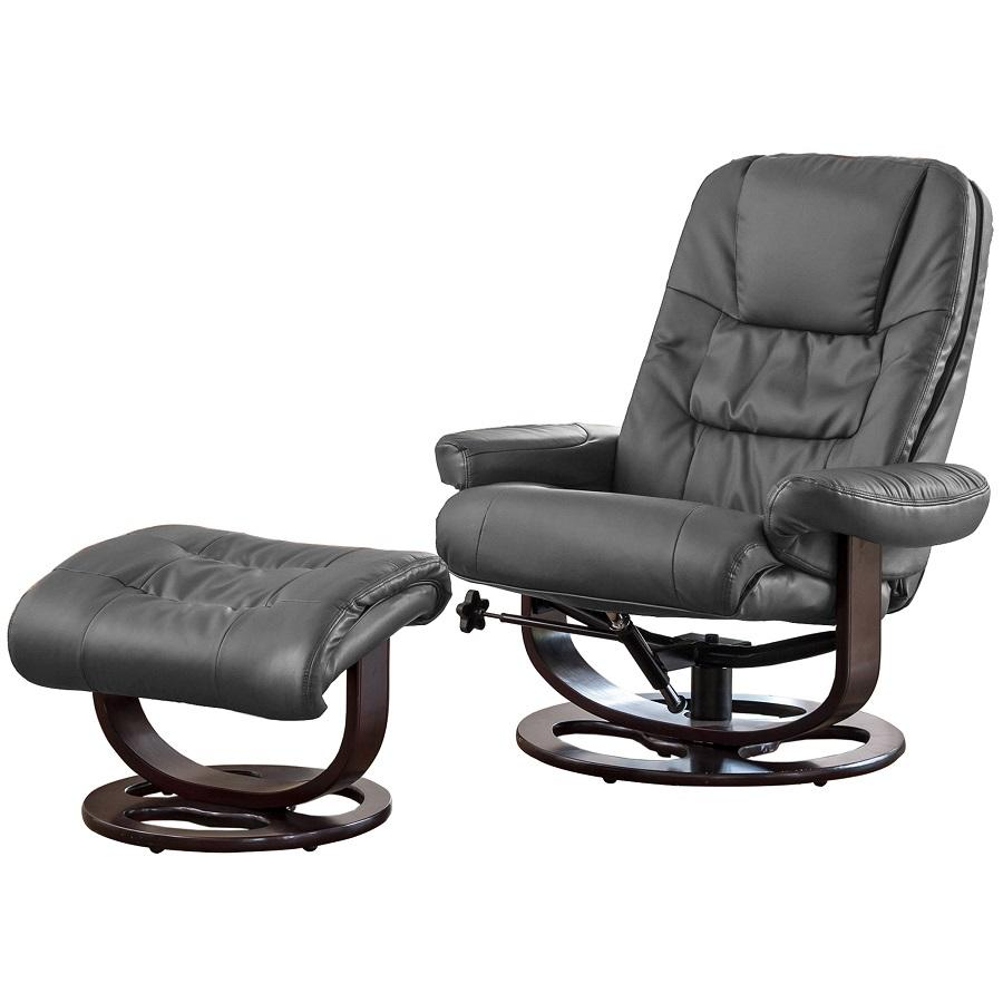 Swivel Recliner Heat and Massage with Foot Stool