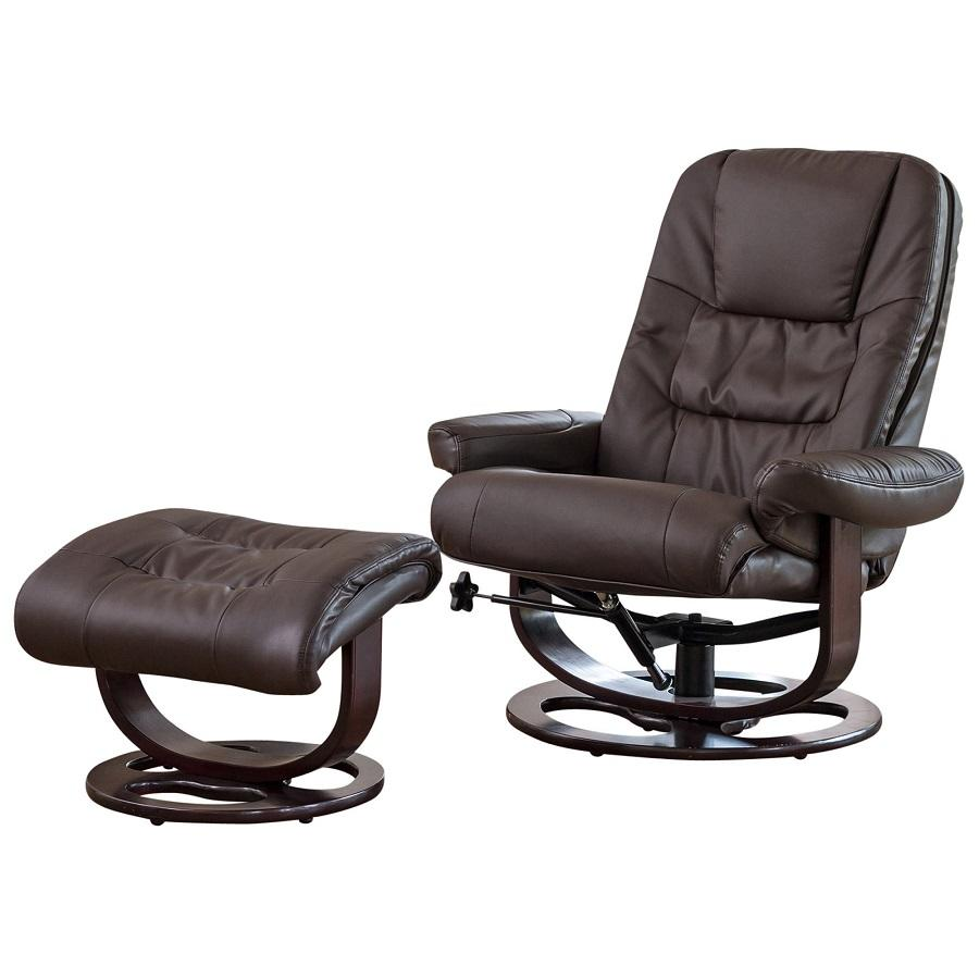 Swivel Recliner with Foot Stool