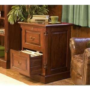 Elegant Mahogany Two Drawer Filing Cabinet