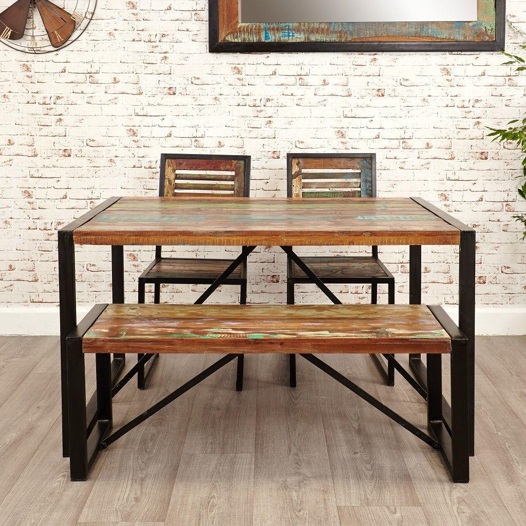 Small Industrial Dining Table: Industrial Chic Small Dining Table
