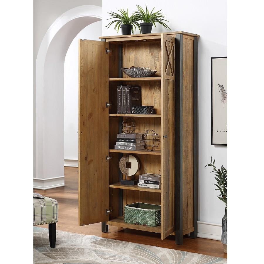 Storage Cabinets For Living Room: Industrial Elegance Living Room Storage Cabinet