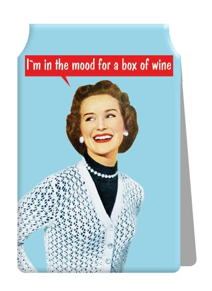 I'm in the mood for a box of wine Travel Card Holder