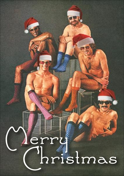 Merry Christmas from men in socks