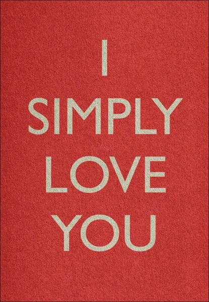 I SIMPLY LOVE YOU