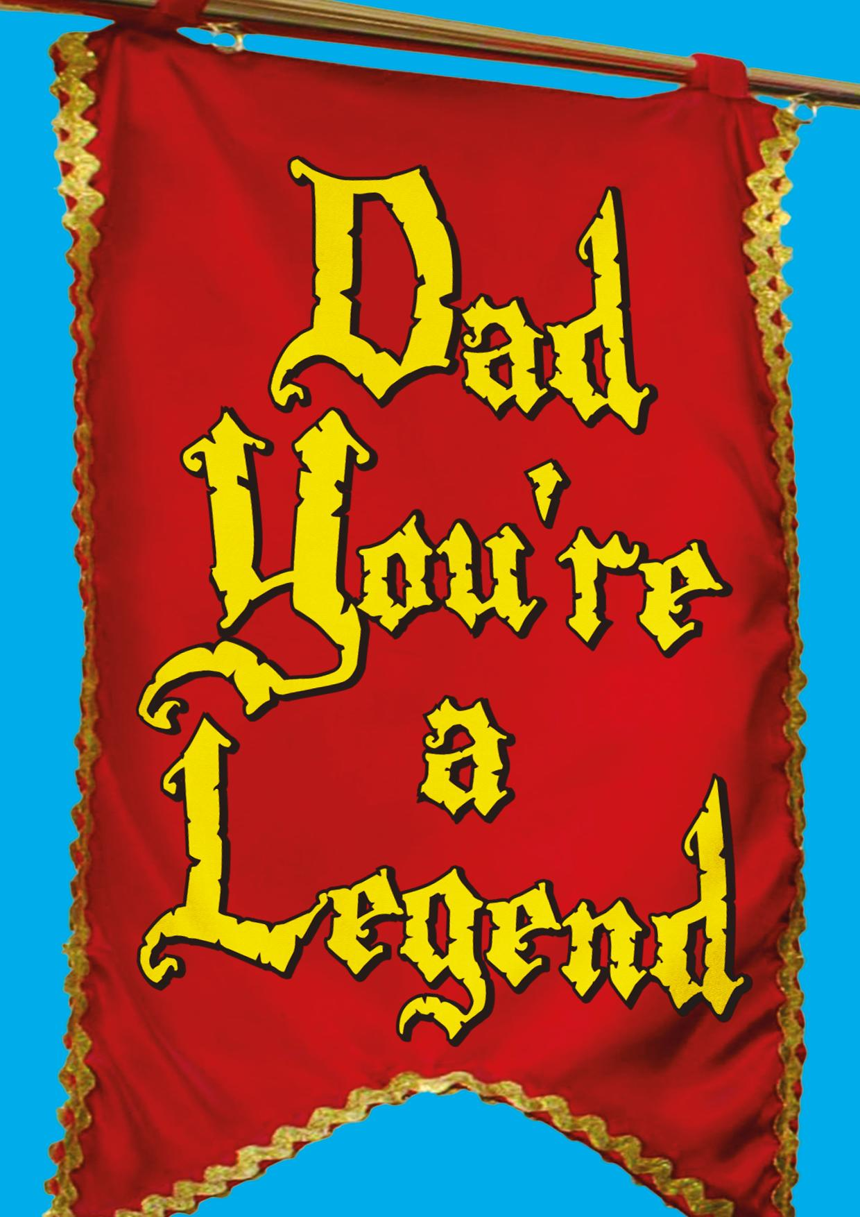 Fathers Day Cars - Medieval Legendary Dad banner