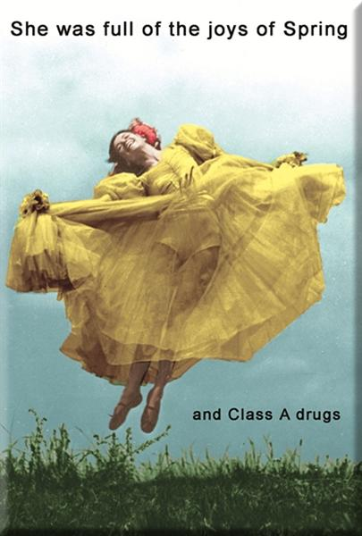 She was full of the joys of Spring... and class A drugs. Fridge Magnet