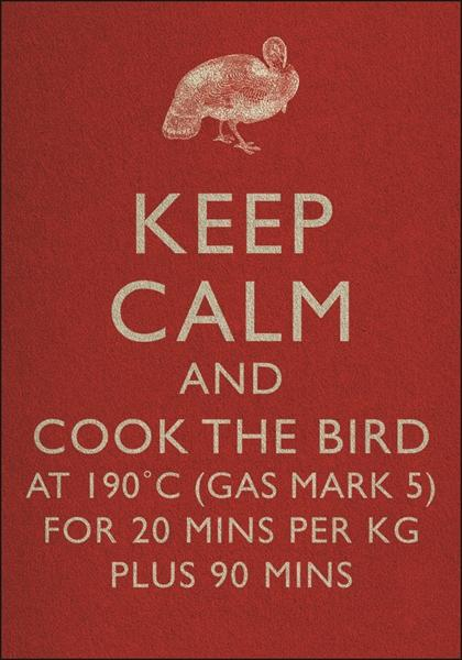 KEEP CALM AND COOK THE BIRD