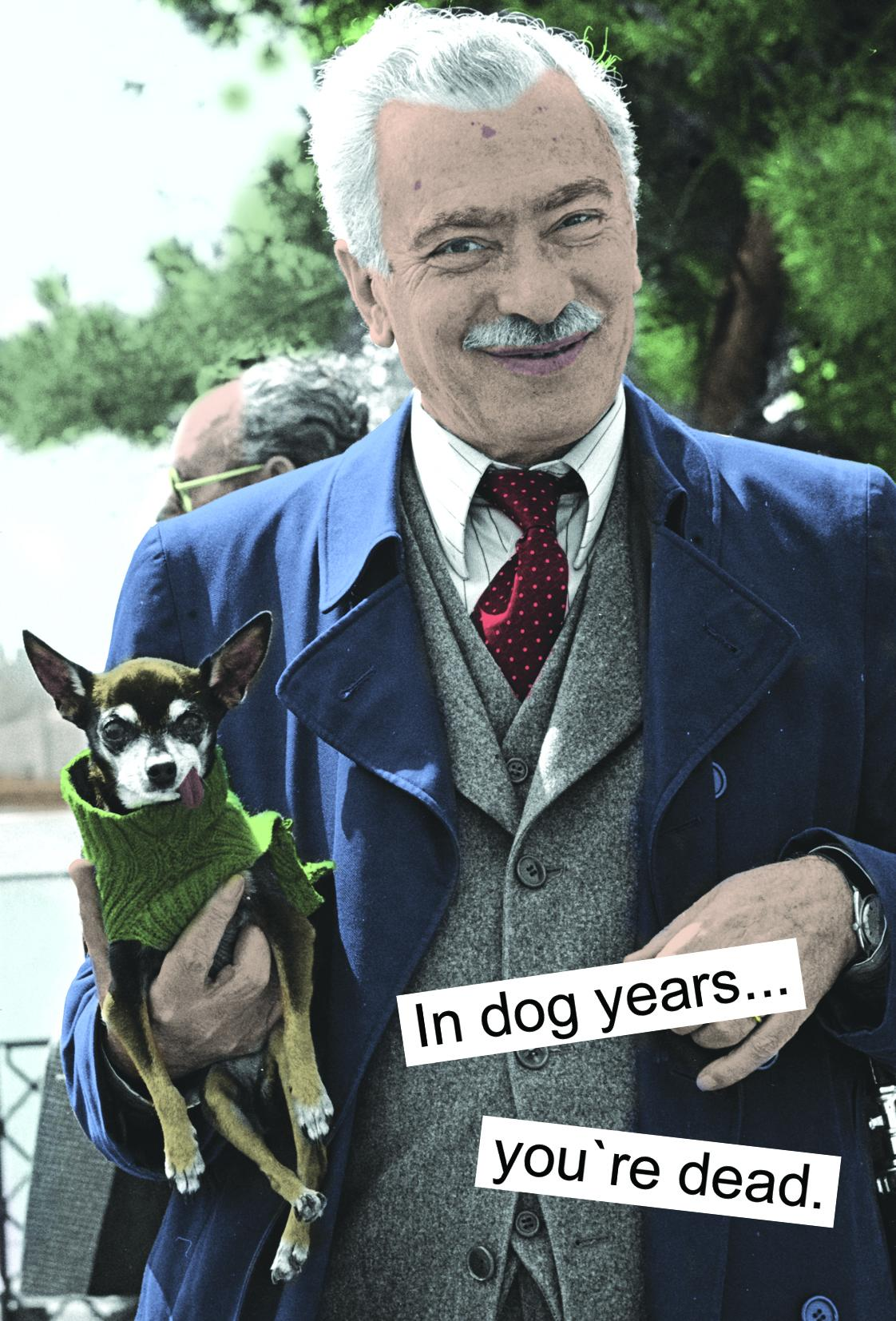 In dog years... you`re dead (for guys)