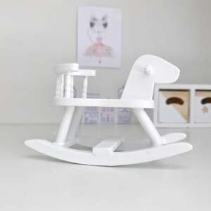 modern dollhouse rocking horse, modern dollhouse playroom, modern dolls house, modern dollhouse kids room, DIY modern dollhouse furniture, modern dollhouse nursery