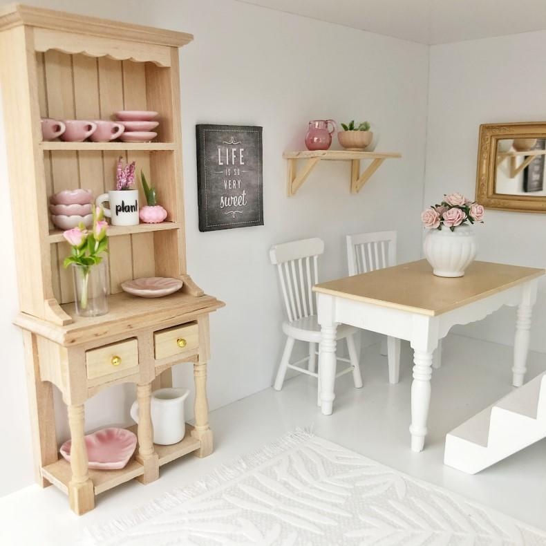 wood dresser, kitchen dresser, miniature dresser
