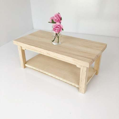 miniature coffee table, 12th scale coffee table, dollhouse coffee table