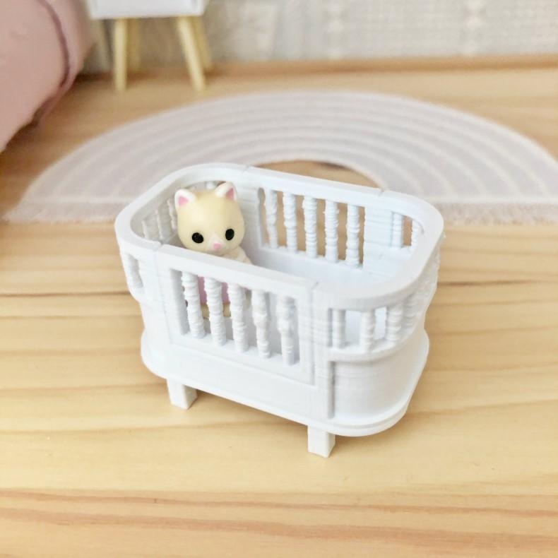dollhouse doll bed, miniature doll bed, mini doll bed