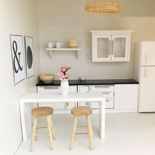 Pretty Little Minis Modern White Breakfast Bar For Your