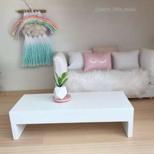 modern dollhouse coffee table, modern dollhouse furniture, modern dollhouse DIY ideas, modern dollhouse interior, dollhouse DIY furniture