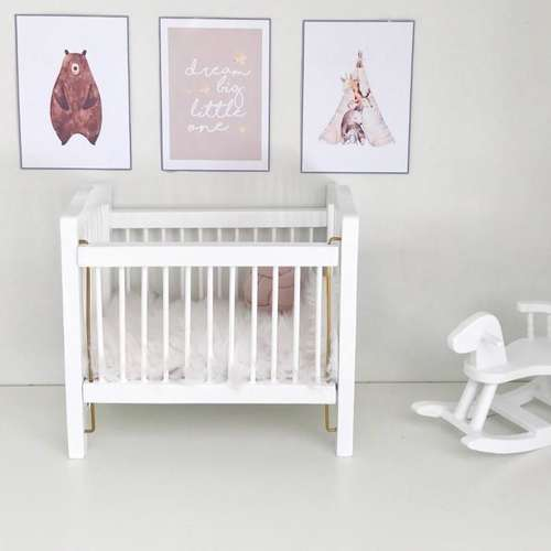 modern dollhouse cot, modern dollhouse furniture, modern dollhouse DIY ideas, modern dollhouse interior, dollhouse DIY furniture