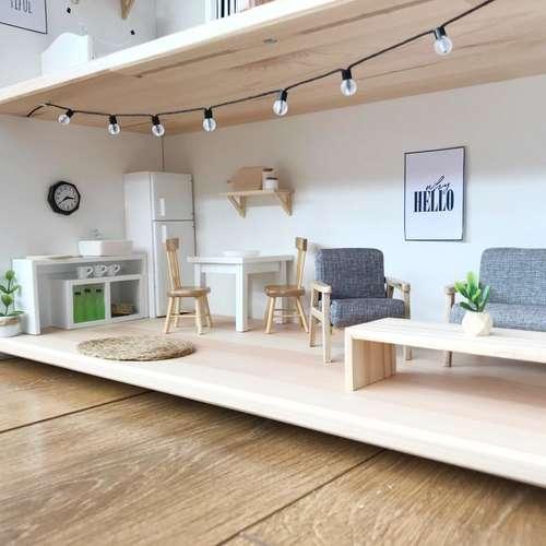 Pretty Little Minis Modern Dollhouse, Diy Modern Furniture