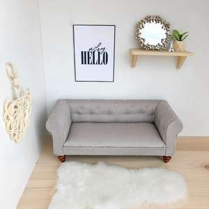 modern dollhouse sofa, modern dollshouse sofa, dollhouse furniture, dollhouse chesterfield sofa, miniature chesterfield sofa, DIY dollhouse furniture