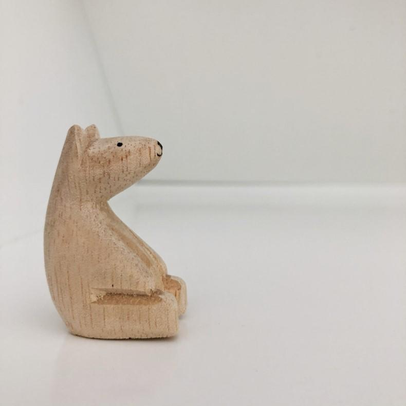 miniature wood bear, mini bear, dollhouse bear, dollhouse teddy, dollhouse toy