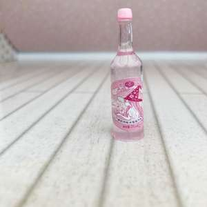 dollhouse bottle, pink dollhouse accessories, whimsical dollhouse