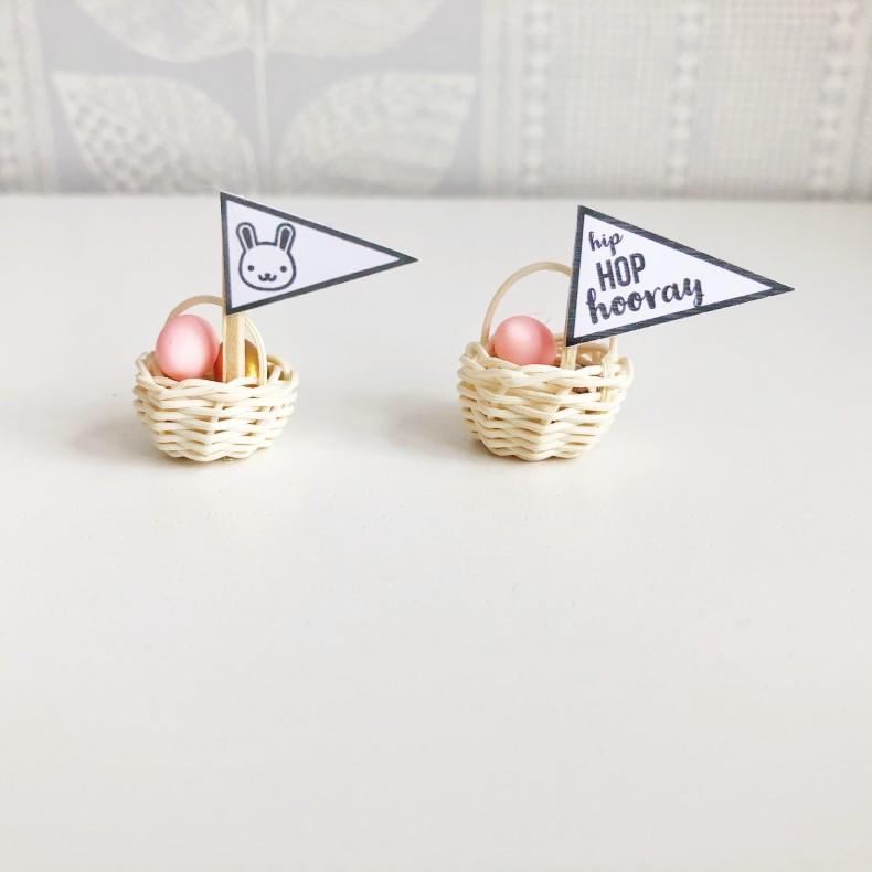 miniature easter dollhouse, mini easter, dollhouse easter
