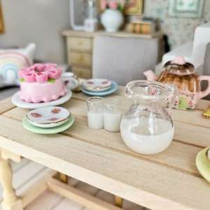 miniature milk jug, mini dollhouse milk