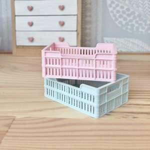 miniature storage crate, dollhouse storage crate