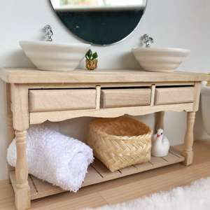 modern miniatures, modern dollhouse, modern dolls house, DIY modern dollhouse, modern dollhouse bathroom, dollhouse bathroom, dollhouse vanity, scandi dollhouse, boho dollhouse, ikea dollhouse, ikea dolls house, ikea flisat