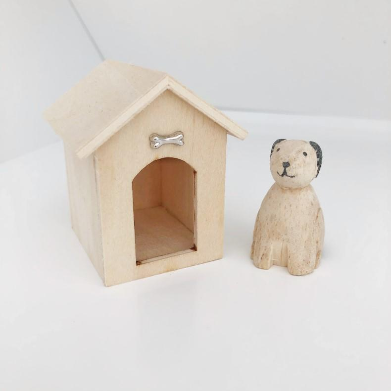 miniature dog kennel, miniature dog house, dollhouse dog kennel, dollhouse dog house, mini dog kennel, mini kennel