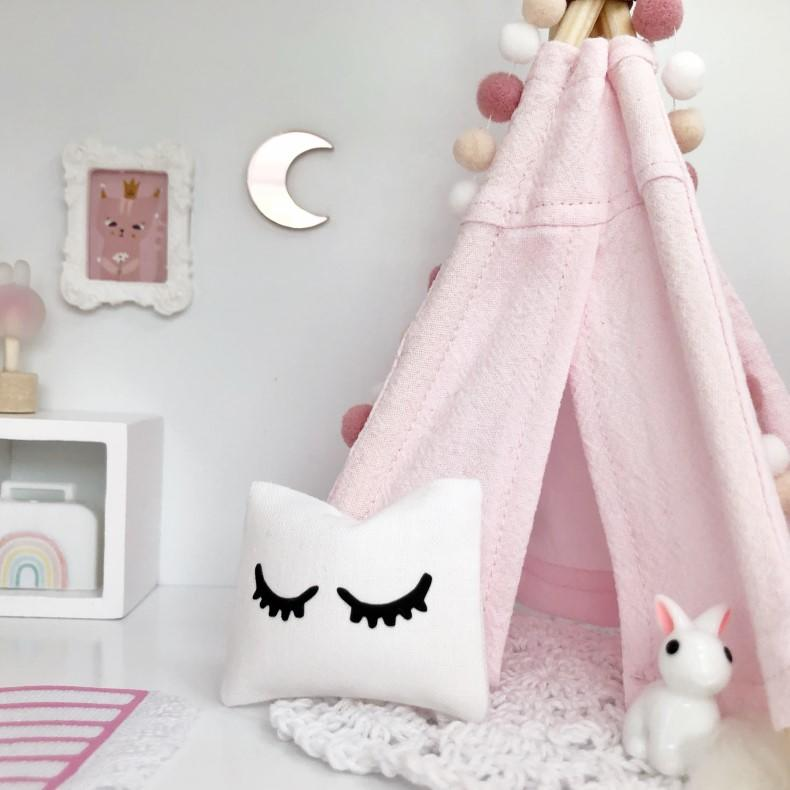 dollhouse mirror, moon mirror, mini mirror