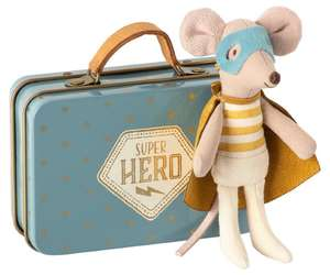 maileg superhero mouse, 12th scale toys