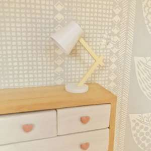 scandi dollhouse accessories, scandi lamp, miniature lamp