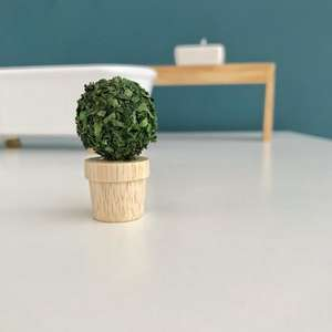 modern miniatures, modern dollhouse, modern dolls house, DIY modern dollhouse, modern dollhouse plant, dollhouse pot plant, dollhouse decor, dollhouse wooden decor