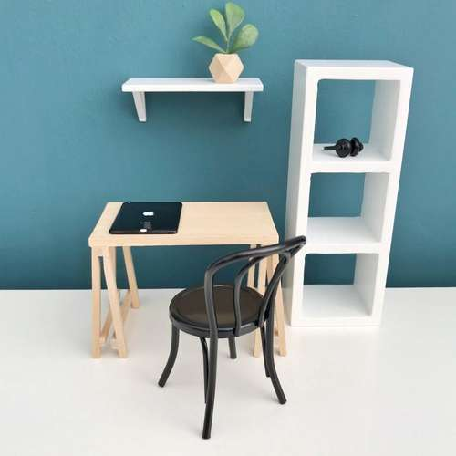 Prime Pretty Little Minis Create A Modern Dollhouse Office Space Download Free Architecture Designs Scobabritishbridgeorg