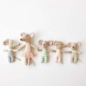 cute dollhouse toys, maileg twins, maileg baby mice, maileg micro bunny, maileg mice, twin baby mice in box