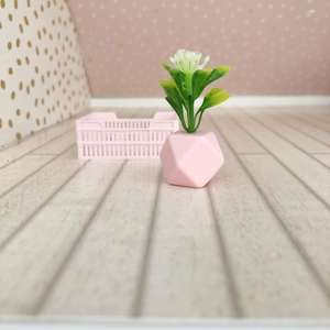 miniature dollhouse pot plants and planters