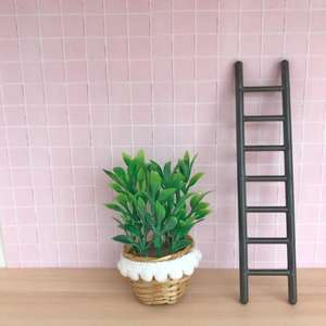 dollhouse ladder, modern dollhouse furniture, modern dollhouse DIY ideas, modern dollhouse interior, dollhouse DIY furniture
