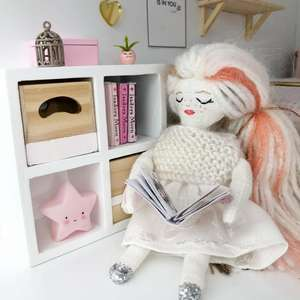 pink star, cute dollhouse decor, modern dollhouse