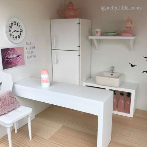modern dollhouse furniture, modern dollhouse DIY ideas, modern dollhouse interior, dollhouse DIY furniture